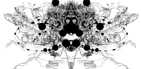 Recherche abstraite (numérique + noir et blanc)
