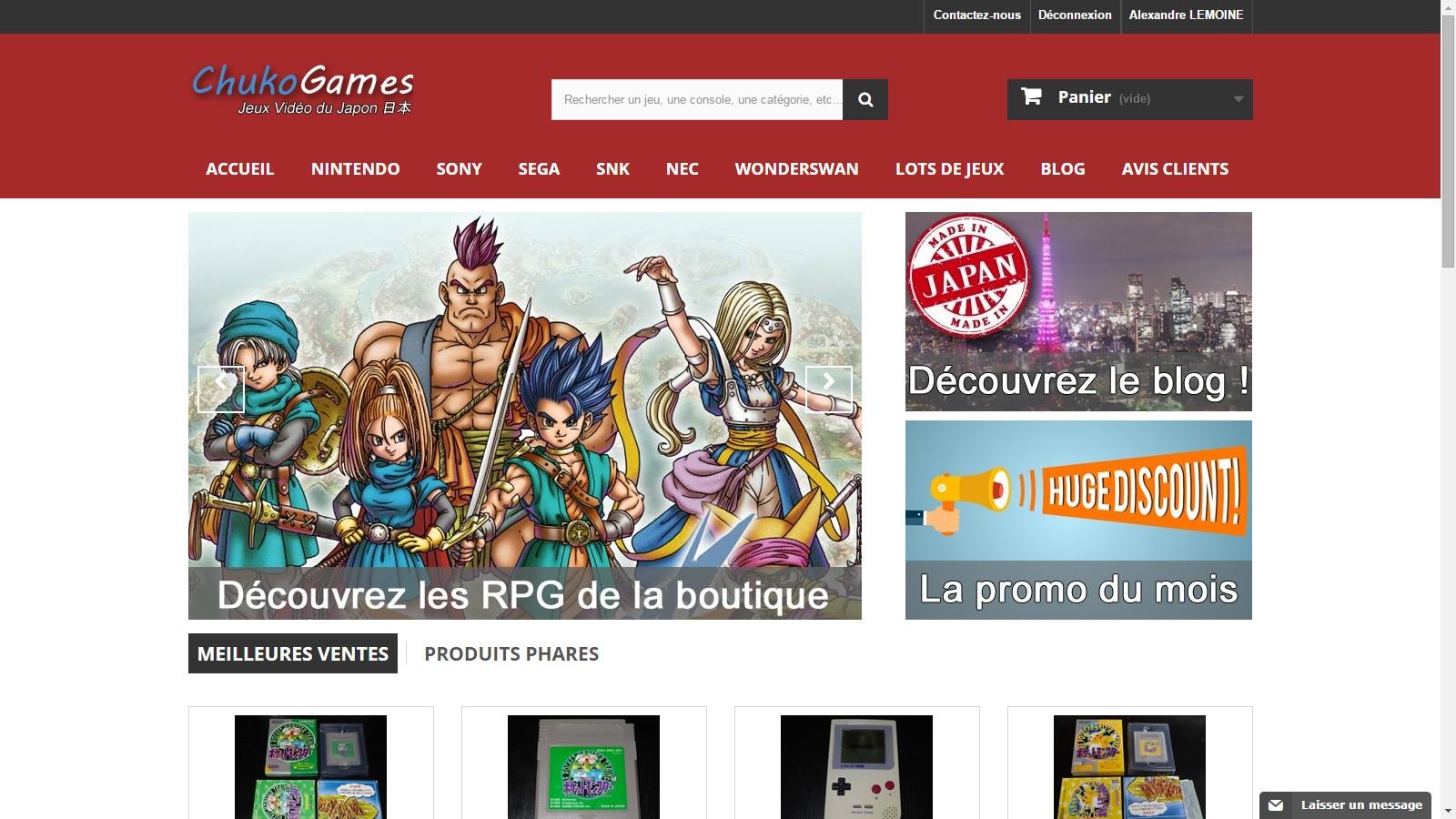 Premier web-design de Chukogames