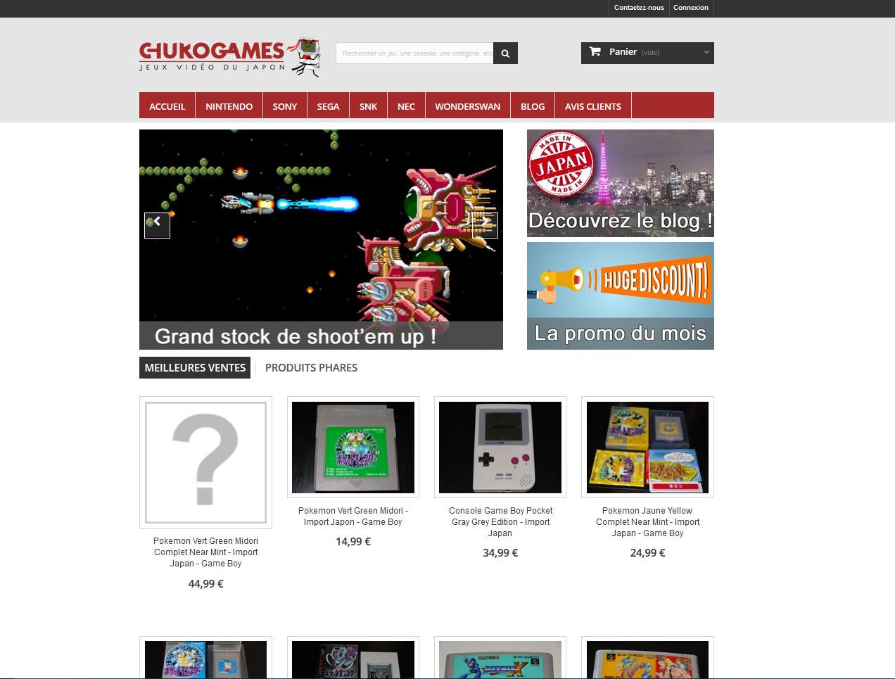 Le nouveau Chukogames