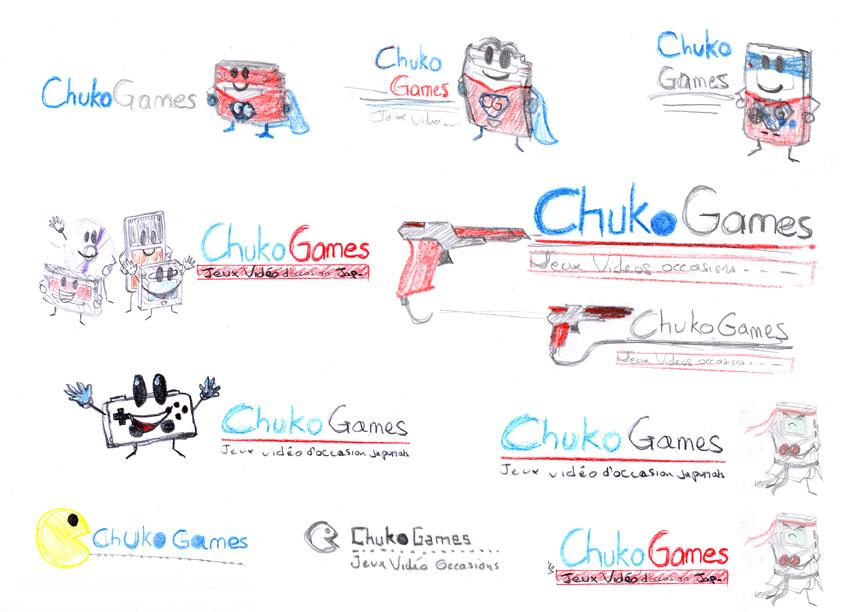 esquisses logo Chukogames