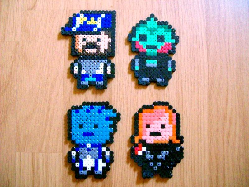 Quelques personnages de Mass Effect