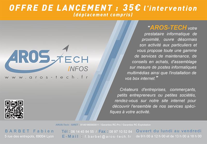 Flyer de lancement Aros-Tech
