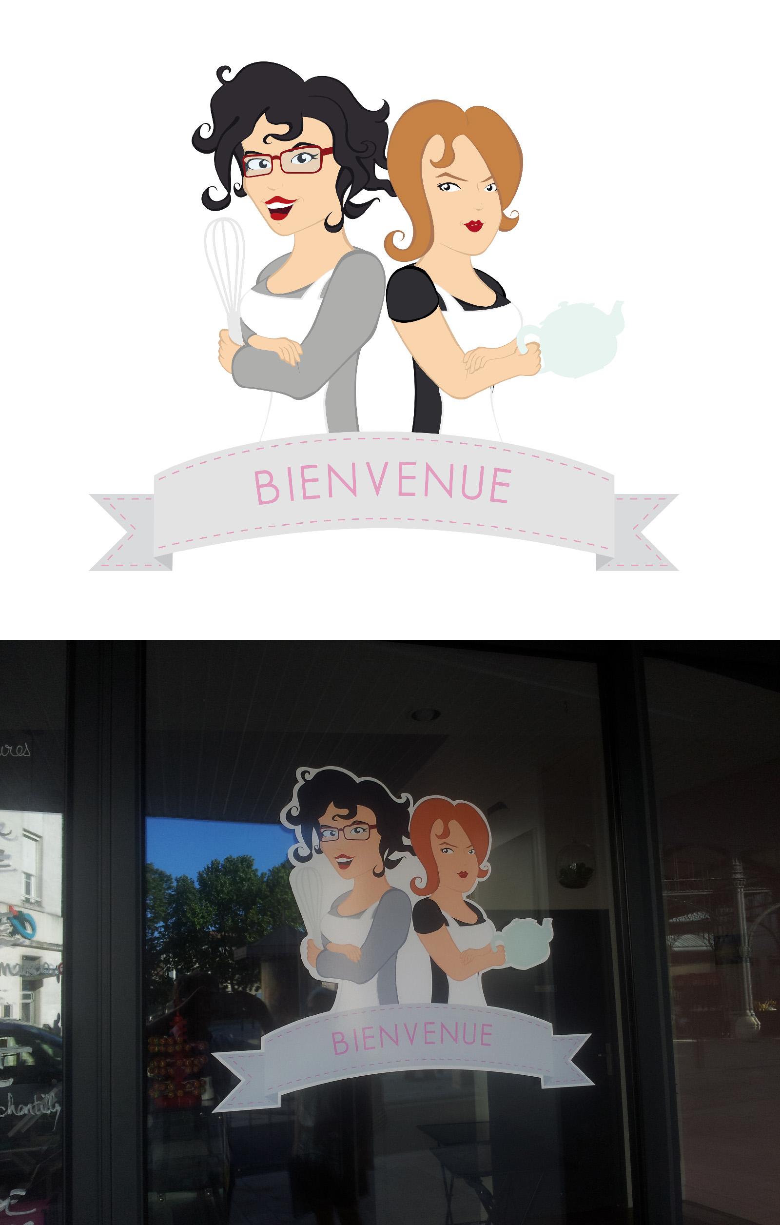 Illustration pour façade de la boutique