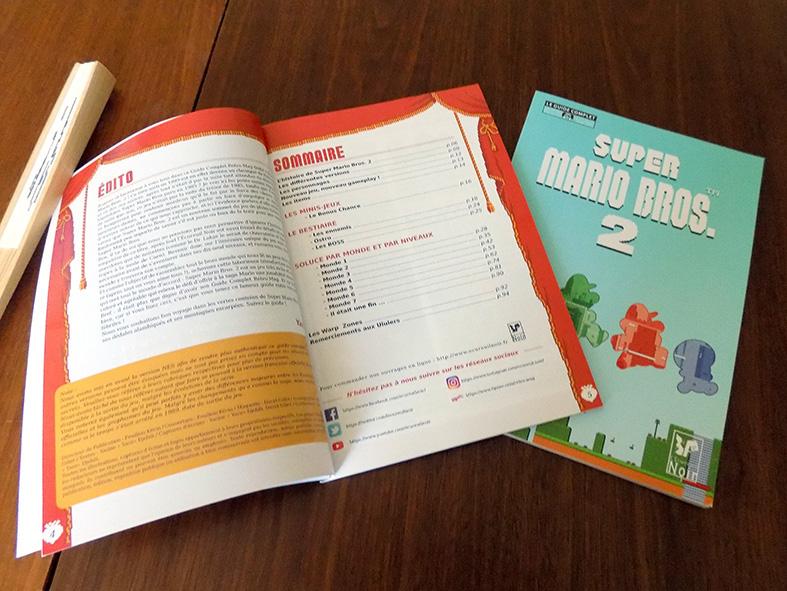 Pages Édito et Sommaire du Guide Super Mario Bros. 2.